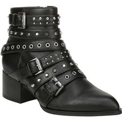 Fergalicious Womens Impact Studded Buckle Boots