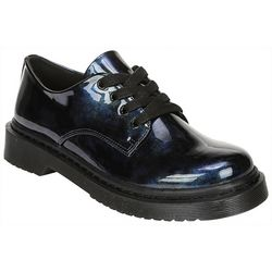 Fergalicious Womens Marvin Patent Lug Sole Oxfords