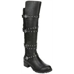 Fergalicious Womens Foxley Buckle Tall Boots
