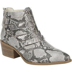 Fergalicious Womens Malaki Snake Ankle Boots