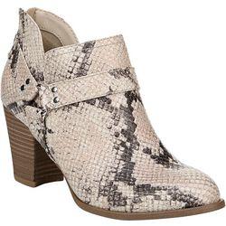 Fergalicious Womens Chucky Snake Print Boots