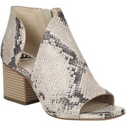 Fergalicious Womens Snake Volume Peep Toe Booties
