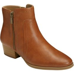 Aerosoles Womens Double Cross Ankle Boots