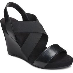 A2 by Aerosoles Womens Lotus Plush Wedge Sandal