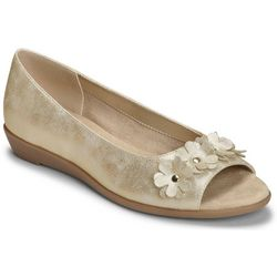 A2 by Aerosoles Womens At Long Last Peep Toe Flats
