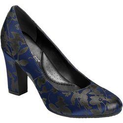 Aerosoles Womens Octagon Fabric Heels
