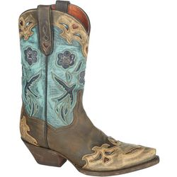 Dan Post Womens Vintage Blue Bird Cowboy Boots