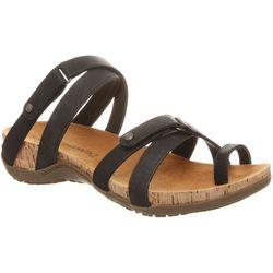 BEARPAW Womens Nadine Toe Loop Slip-On Sandals