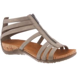 BEARPAW Womens Layla Strappy Zip-Up Sandals