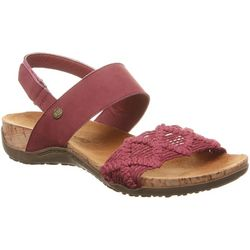 BEARPAW Womens Emerson Macrame Sandals