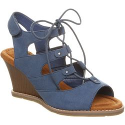 BEARPAW Womens Rhonda Lace-Up Wedge Sandals