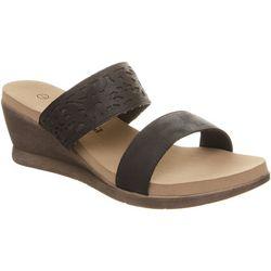 BEARPAW Womens Noelle Slide Wedge Sandals