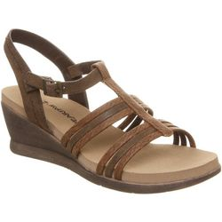 BEARPAW Womens Viola Strappy Wedge Sandals