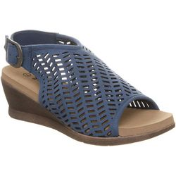 BEARPAW Womens Roxie Cut Out Wedge Sandals