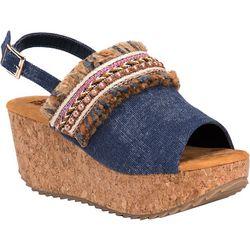 Muk Luks Womens Marion Wedge Sandals