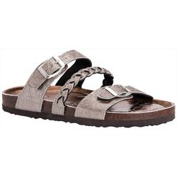 Muk Luks Womens Bonnie Braid Strap Sandals