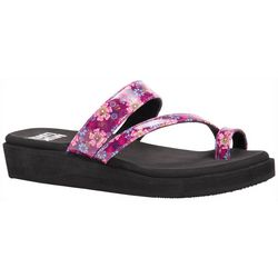 Muk Luks Womens Callie Wedge Sandals