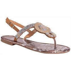 Muk Luks Womens Celia Beaded Sandals