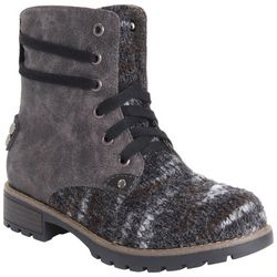 Muk Luks Womens Evrill Lace Up Boots