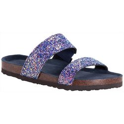 Muk Luks Womens Glitter Deedee Sandals
