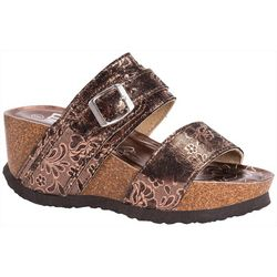 Muk Luks Womens Emery Wedge Sandals