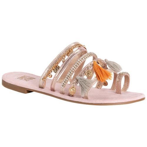ce03233a7 Muk Luks Womens Hadlee Tassel Sandals