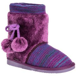 Muk Luks Big Girls Striped Delanie Boots