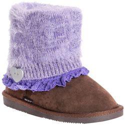 Muk Luks Girls Fuzzy Patti Boots
