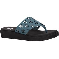Muk Luks Womens Melanie Wedge Sandals