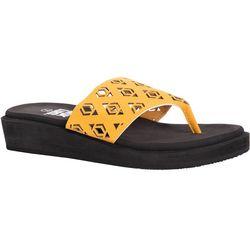 Muk Luks Womens Melanie Wedge Sandals