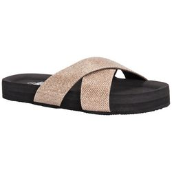Muk Luks Womens Teagan Criss Cross Sandals