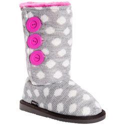 Muk Luks Girls Polka Dot Malena Boots
