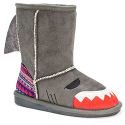 MUK LUKS Little Girls Finn Shark Boots