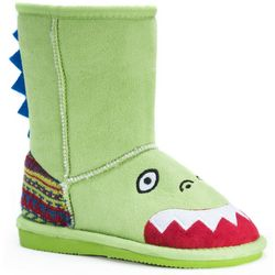 MUK LUKS Little Girls Rex Dinosaur Boots