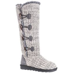 Muk Luks Womens Lattice Pattern Felicity Boots