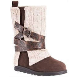 Muk Luks Womens Nikki Sweater Boots