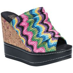 Muk Luks Womens Peyton Wedge Sandals