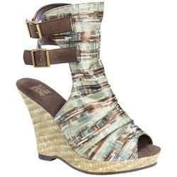 Muk Luks Womens Sage Wedge Sandals
