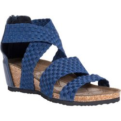 Muk Luks Womens Elle Woven Wedge Sandals