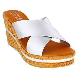 Italian Shoemakers Womens Varona Cork Sandal