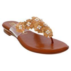 Italian Shoemakers Womens Martha Floral Thong Sandals