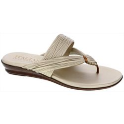 Italian Shoemakers Womens Marilu Pleated Sandals