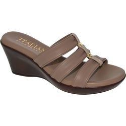 Italian Shoemakers Womens Avis Wedge Sandals