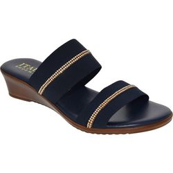Italian Shoemakers Womens Double Strap Sandals