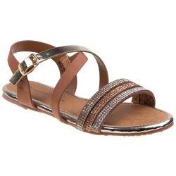 Nanette Lepore Girls Strappy Rhinestone Sandals