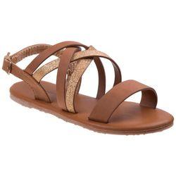 Nanette Lepore Girls Strappy Shimmer Sandals