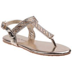 Nanette Lepore Girls Rhinestone Thong Sandals