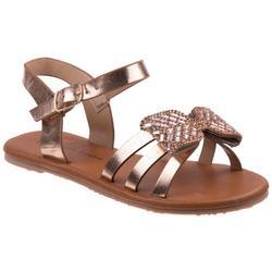 Girls Embellished Bow Sandals