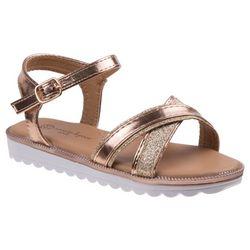Nanette Lepore Girls Glitter Strap Sandals