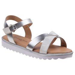Nanette Lepore Girls Metallic Strappy Sandals